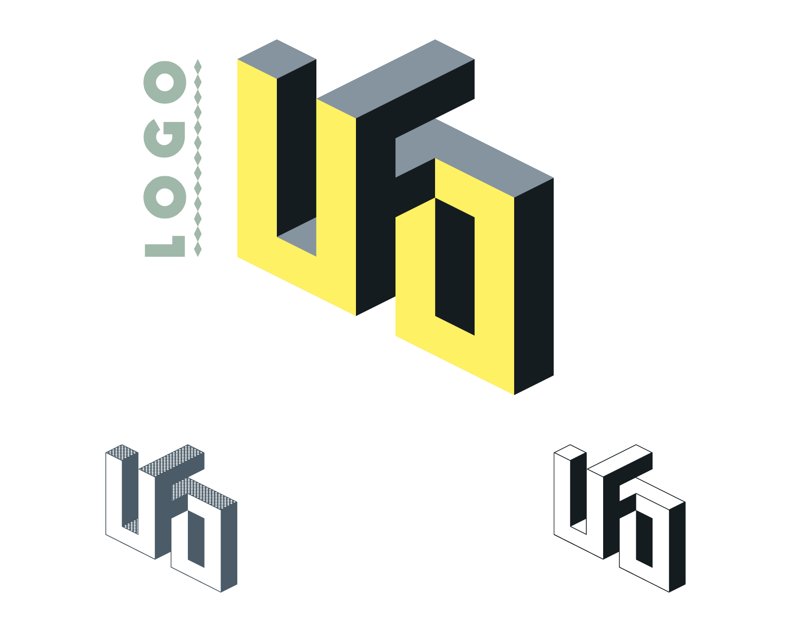 Logo for a school assignement to create the whole visual identity for a fictive worker in the career field of our choice, here an ufologist.