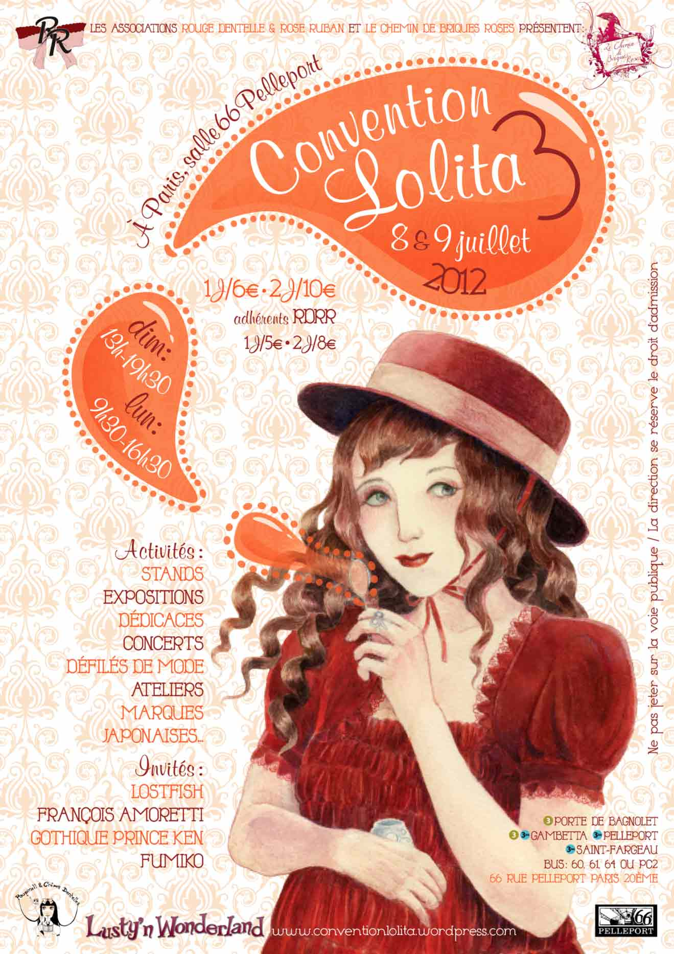Poster for the 3rd edition of the Convention Lolita in 2012 held in Paris.