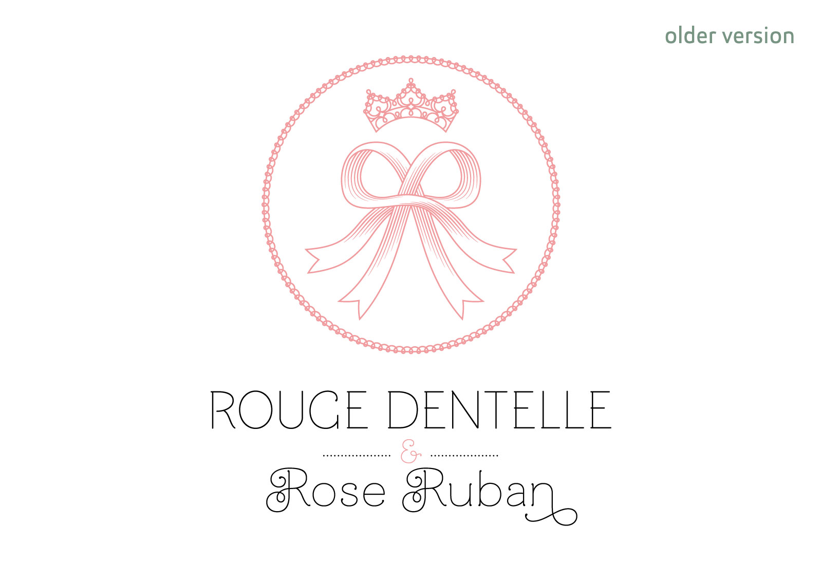 Rouge Dentelle & Rose Ruban vertical old logo