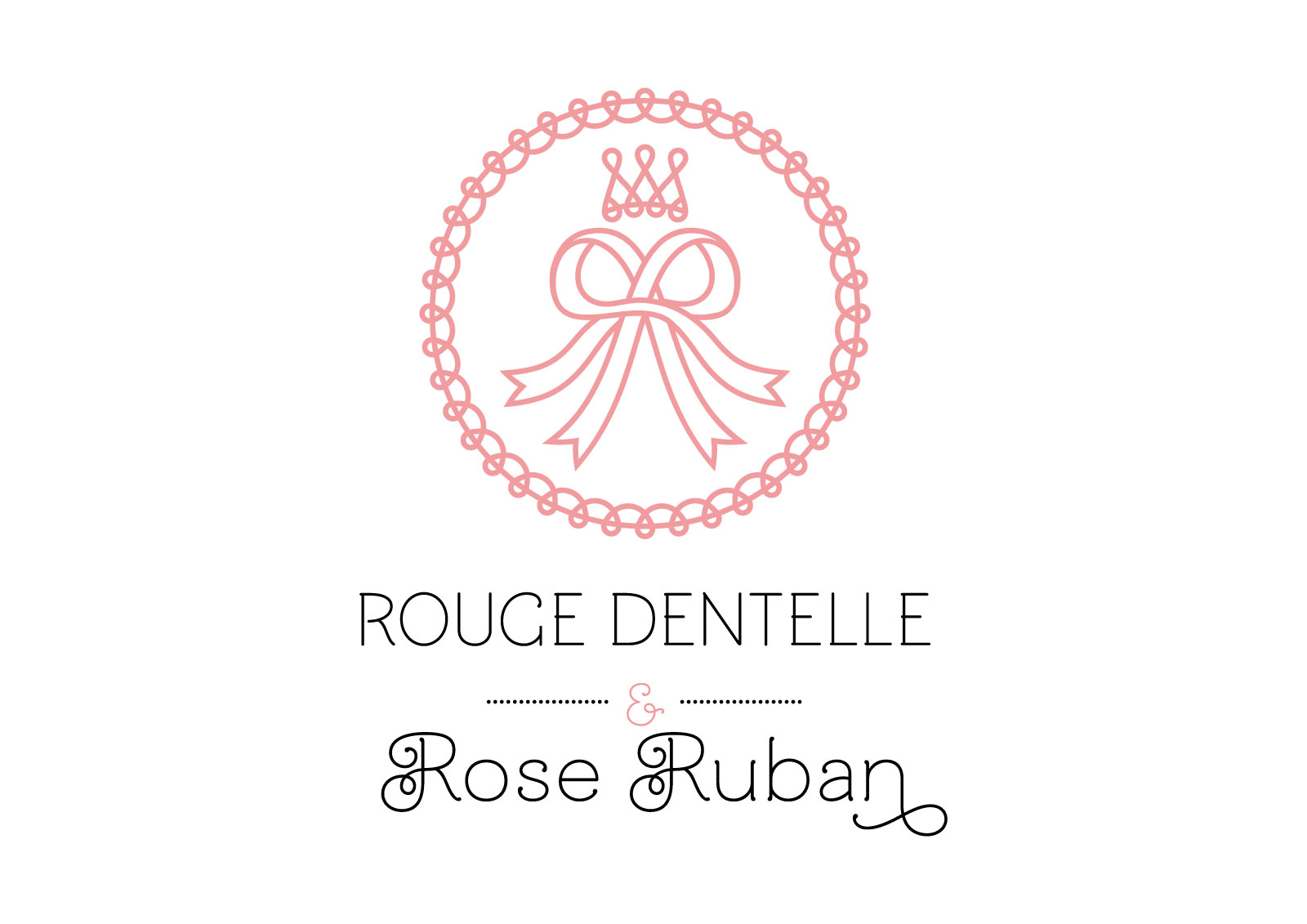 Rouge Dentelle & Rose Ruban vertical logo